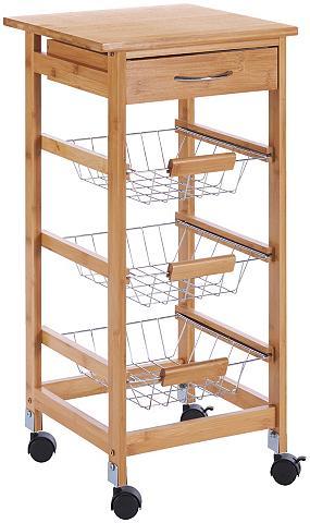 Virtuvinis vežimėlis »Bambus« 37 x 37 ...