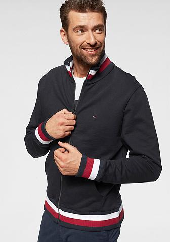 TOMMY HILFIGER Bliuzonas »GLOBAL TIPPED ZIP MOCK«