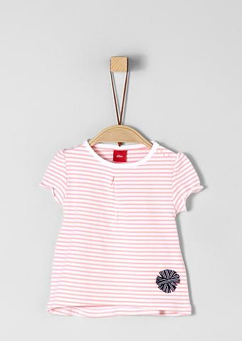 S.OLIVER RED LABEL JUNIOR Dryžuoti marškinėliai su aplikacija dė...