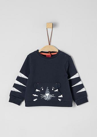 S.OLIVER RED LABEL JUNIOR Sportinio stiliaus megztinis su Motiv-...