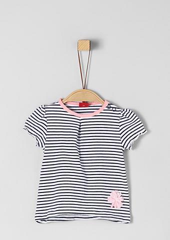 S.OLIVER JUNIOR Dryžuoti marškinėliai su aplikacija dė...