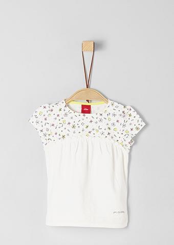 S.OLIVER JUNIOR Marškinėliai su Millefleurs-Detail dėl...