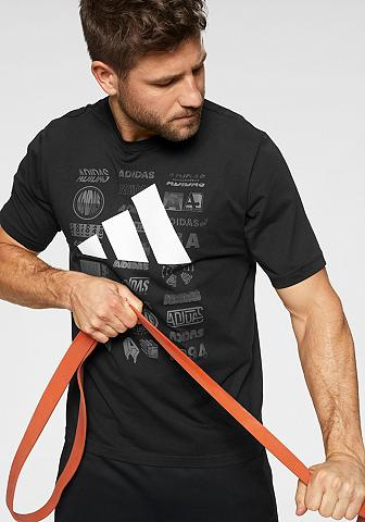 ADIDAS PERFORMANCE Marškinėliai »TP šortai dėklas TEE«