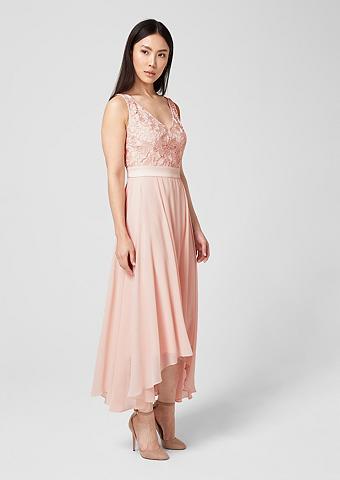S.OLIVER BLACK LABEL Šifoninė suknelė su nėrinių