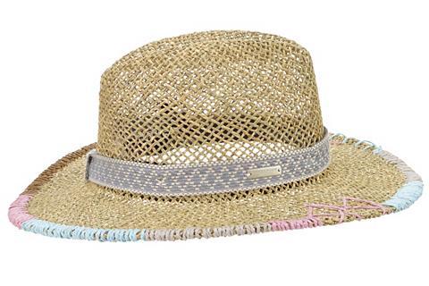 SEEBERGER šiaudinė skrybėlė »Seegras Fedora su a...