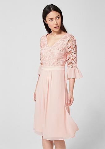 S.OLIVER BLACK LABEL Suknelė iš gėlėti nėriniai ir šifonas