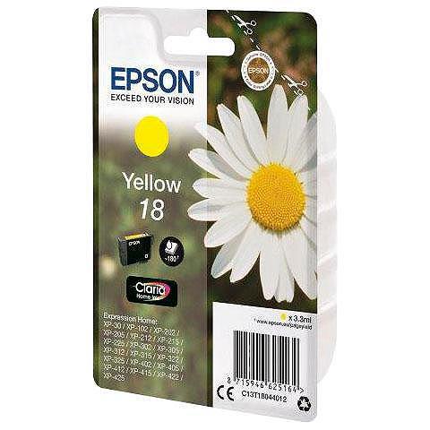 EPSON »T1804 18 Original Gelb C13T18044012« ...
