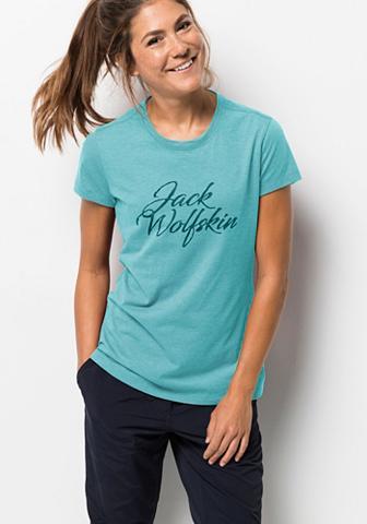JACK WOLFSKIN Marškinėliai »BRAND T W«
