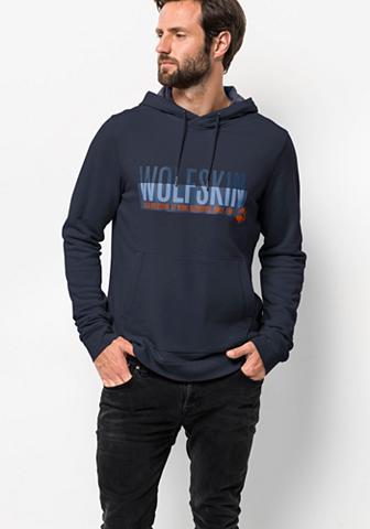 JACK WOLFSKIN Sportinis megztinis su gobtuvu »SLOGAN...