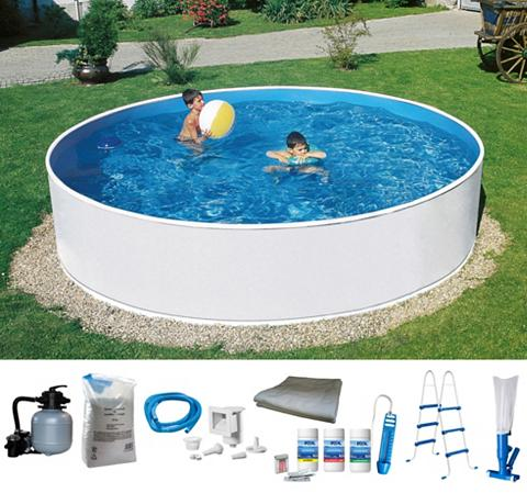 MYPOOL Rinkinys: apvalus baseinas 8-tlg. ØxH:...