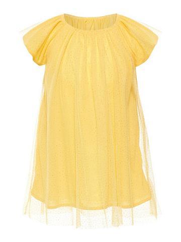 NAME IT Golden taškuotas Tiulio suknelė