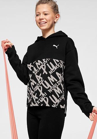 PUMA Sportinis megztinis su gobtuvu »ALPHA ...