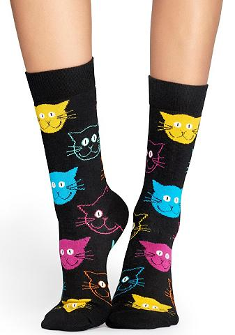 Happy Socks Socken »Cat« su bunten Katzengesichter...