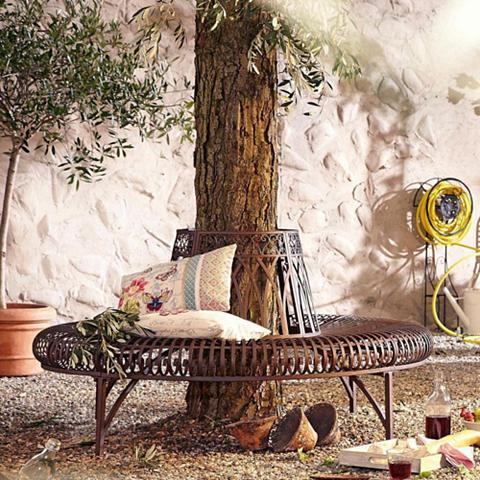 SCHNEIDER Sodo suolas »Baum halbrund« Braun
