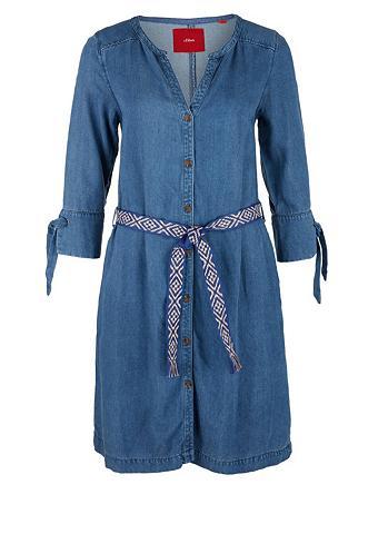 S.OLIVER Light džinsinė suknelė su diržas