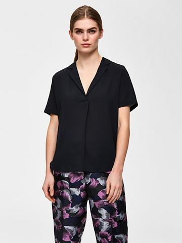 SELECTED FEMME Recyclingpolyester marškiniai trumpom ...