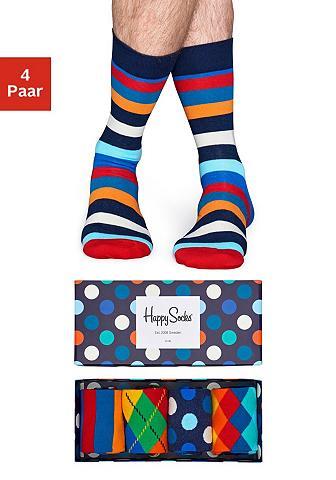 HAPPY SOCKS Kojinės Dėžutė 4 (Box 4 poros)