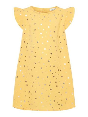 NAME IT Goldgepunktetes suknelė
