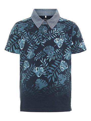 NAME IT Blattprint Polo marškinėliai