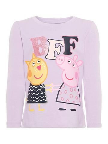 NAME IT Peppa Pig raštas Marškinėliai su ilgis...