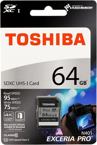 TOSHIBA Atminties kortelė »SDXC plokštė N401 6...