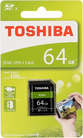 TOSHIBA Atminties kortelė »SDXC plokštė N203 6...
