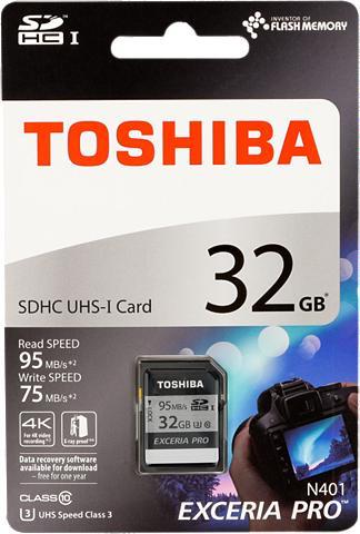 TOSHIBA Atminties kortelė »SDHC plokštė N401 3...