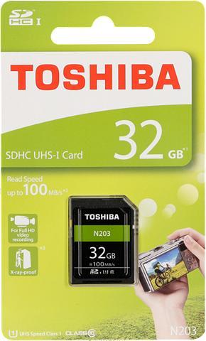 TOSHIBA Atminties kortelė »SDHC plokštė N203 3...