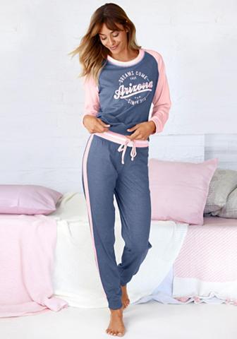 Arizona Pižama im College-Look su Folienprint