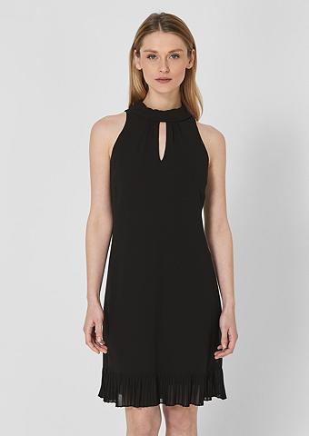 S.OLIVER BLACK LABEL Šifoninė suknelė su Plissee-Volant