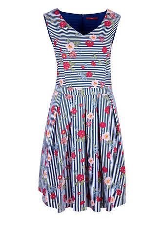 S.OLIVER RED LABEL Raštuota suknelė iš satinas
