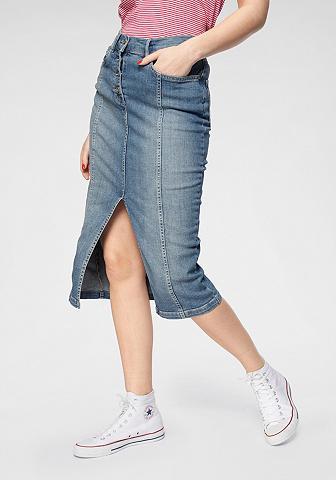 SUPERDRY Džinsinis sijonas »DENIM midi ilgio PE...