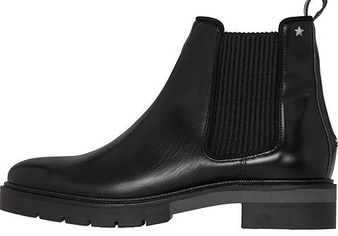 TOMMY HILFIGER Batai »METALLIC LEATHER CHELSEA BOOT«
