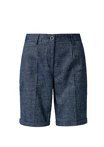S.OLIVER RED LABEL Bundfaltenshorts iš Leinen-Blend