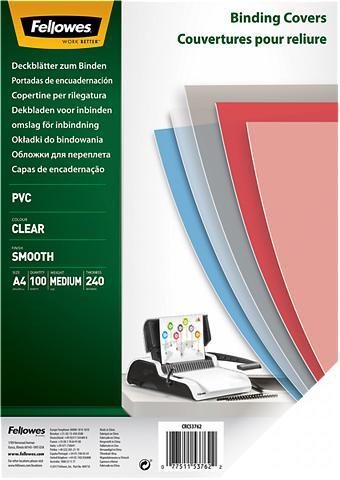 FELLOWES Deckblatt »Deckblatt A4 240 Mikron«
