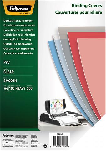 FELLOWES Deckblatt »Deckblatt A4 300 Mikron«