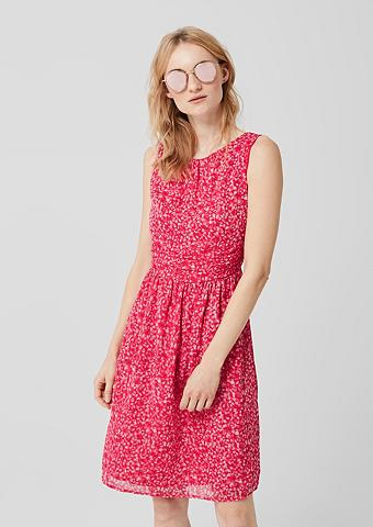 S.OLIVER RED LABEL Šifoninė suknelė su Glitzer-Print