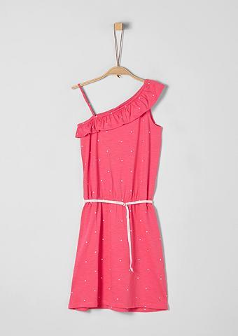 S.OLIVER RED LABEL JUNIOR Asimetriško kirpimo suknelė su surišam...