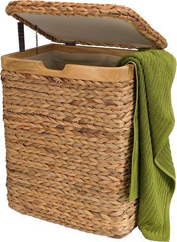 Home affaire Wäschebox su natur Holzrahmen