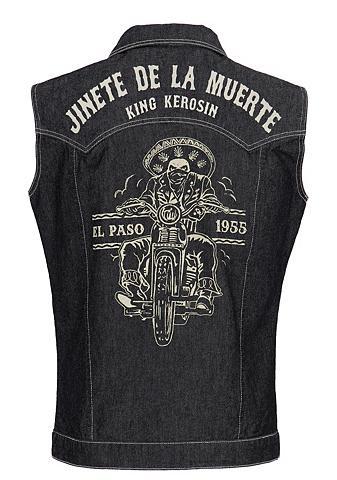 KingKerosin Džinsinė liemenė »Jinete de la Muerte«...