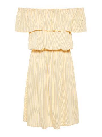 NAME IT Dryžuota apnuoginanti pečius suknelė