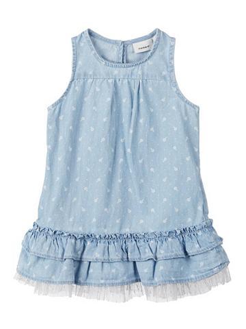 NAME IT Gėlių raštu džinsinė suknelė