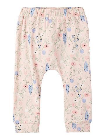 NAME IT Gėlių raštu Baumwoll kelnės