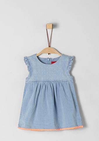 S.OLIVER JUNIOR Džinsinė suknelė su klostės dėl Babys
