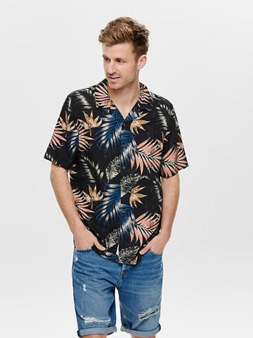 ONLY & SONS ONLY & SONS raštuotas marškiniai trump...