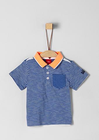 S.OLIVER JUNIOR Polo marškinėliai su Neon-Detail dėl B...