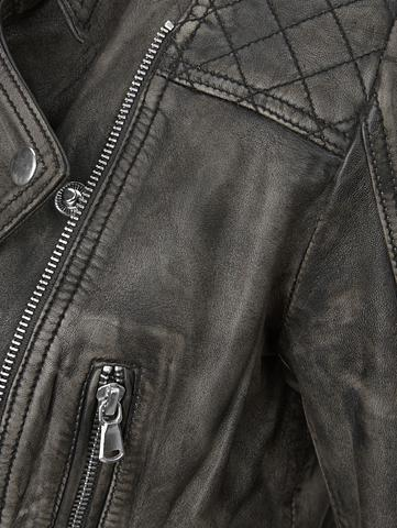 ROCKGEWITTER Odinė striukė im Motociklininko stilia...