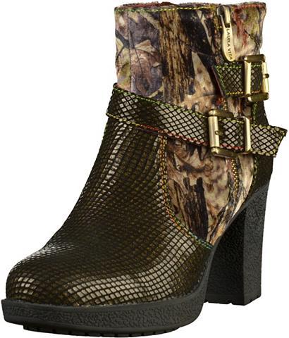 LAURA VITA »Leder/Textil« High-Heel-Stiefelette