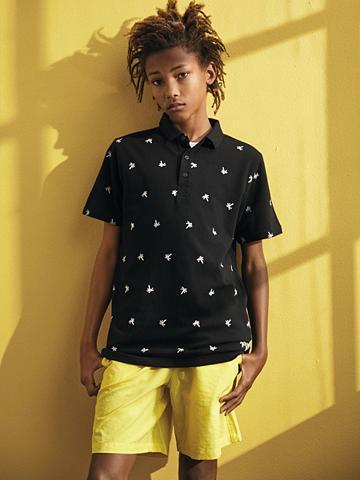 NAME IT Palmenprint Polo marškinėliai