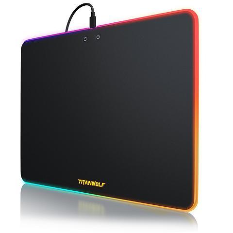 Titanwolf RGB Gaming Mauspad su Kunststoffoberfl...